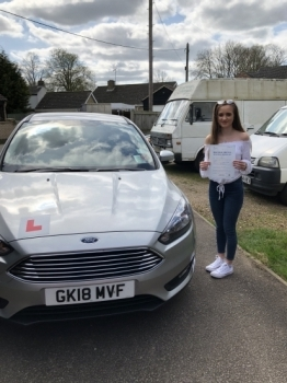 Congratulations to Shania on passing your driving test...