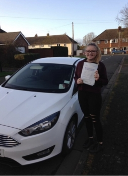 Congratulations to Beth on passing your test.
