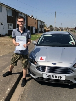 Congratulations to Callum on passing your driving test.