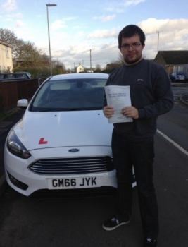 Congratulations to Jack on passing your test.