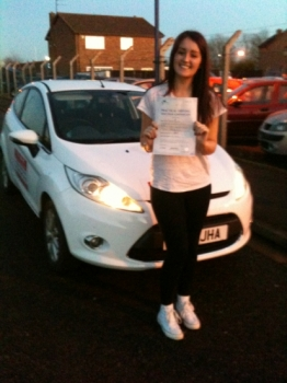 Congratulations to Alice from March who passed her driving test on the 3rd December...