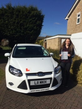 Happy days for Mei who passed her test today:)...